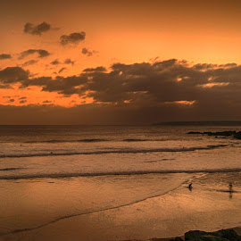 Glorious Sunset by Cornish Nige  - Landscapes Beaches ( sand, seascape, beach, clouds, sun )