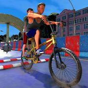 BMX Guts Glory Game - Happy Obstacle Course Wheels