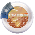 Brown Blueprint GO Keyboard icon