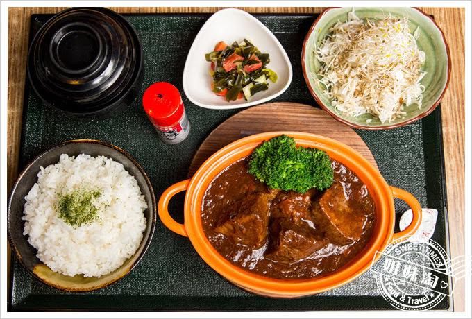 森本日式和風洋食堂燉牛舌定食