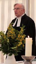 Photo: Großensee-Fest 2014. Abschluß-Gottesdienstes am Sonntagmorgen. Pastor i.R. Egbert Staabs hielt die Predigt. Er war von 1966 an 13 Jahre Pastor der Tymmo-Kirchengemeinde.