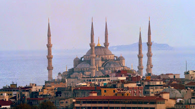 Photo: composite of Blue Mosque from Galata tower
