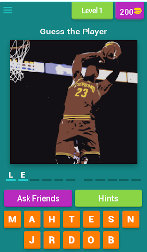 Guess the NBA Player 3.3.7z screenshots 1