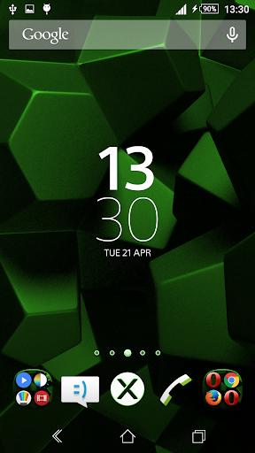 Theme Xperien Cubes Green