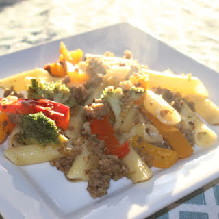 Penne with Sausage & Vegetables