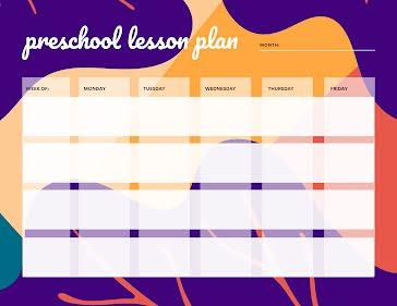 Wavy Preschool Plan - Planner Template