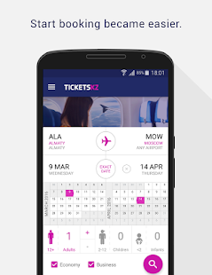 Tickets.kz Cheap flights - náhled