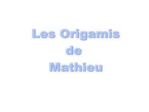 Photo: Les origamis de Mathieu