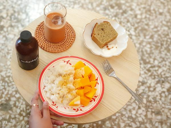 高雄苓雅|頂加甜點-季節限定芒果糯米飯與樸實手作甜點