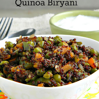 Quinoa Vegetable Biryani.