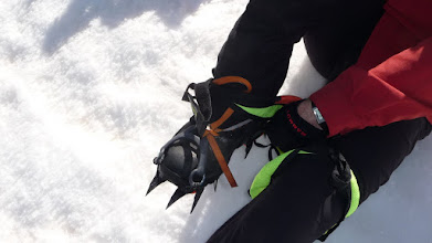 Photo: détail du super matériel de notre skieur émérite