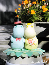 Photo: Mr & Mrs. Moomin Custom edible cake topper