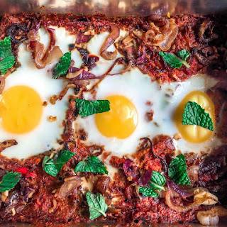 Spanish Red Pepper Breakfast Casserole.