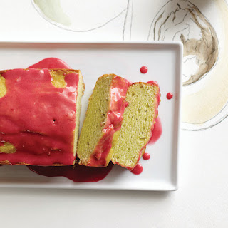 Avocado Pound Cake With Raspberry Glaze