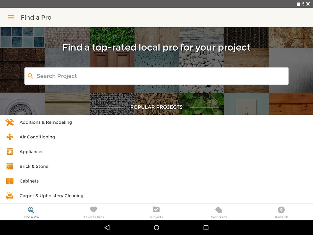 homeadvisor home contractors android apps on google play
