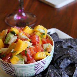 Avocado, Mango, and Tomato Salsa