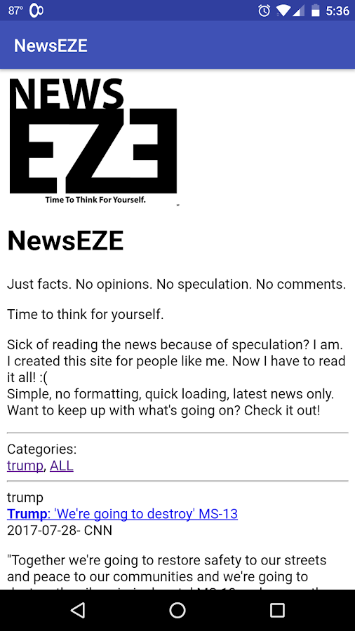 NewsEZE- screenshot