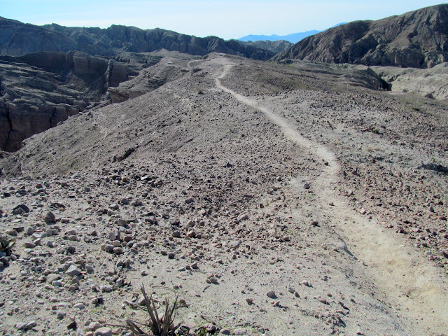 Trail on top of Mecca Hills
