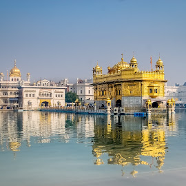 Harmandir Sahib by Gunbir Singh - Buildings & Architecture Places of Worship ( gold, reflection, religious place, place of worship, temple, power, water, sikhism, architecture )