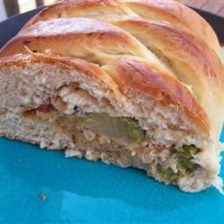 Chicken and Broccoli Braid