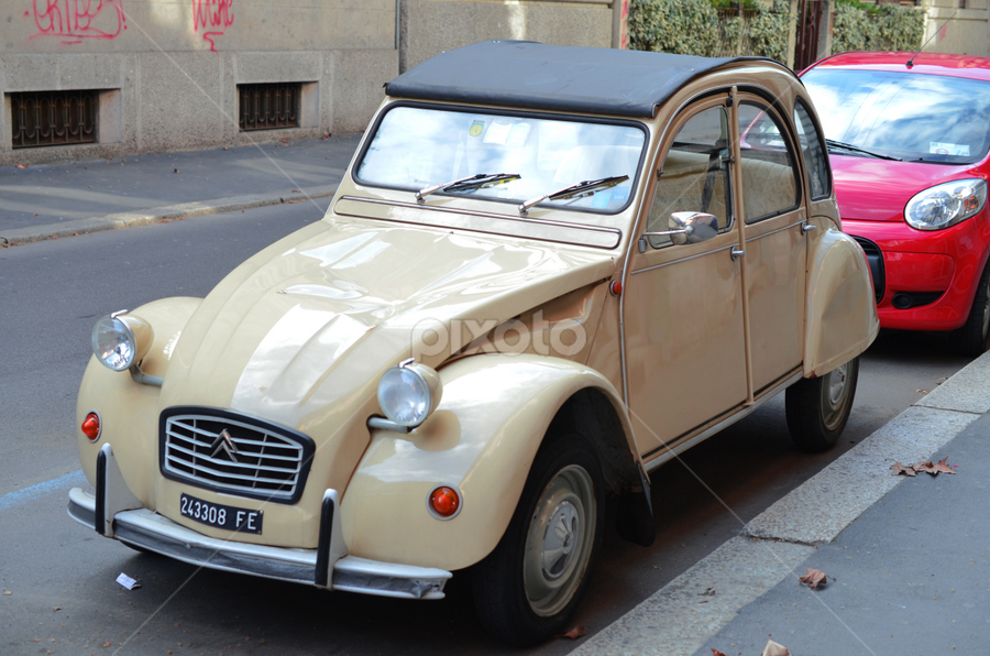 an old car parked in Milano by Razvan Gheorghe - Products & Objects Industrial Objects