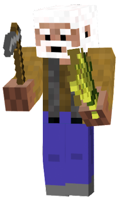 I made this skin as an old steve that is a farmer.