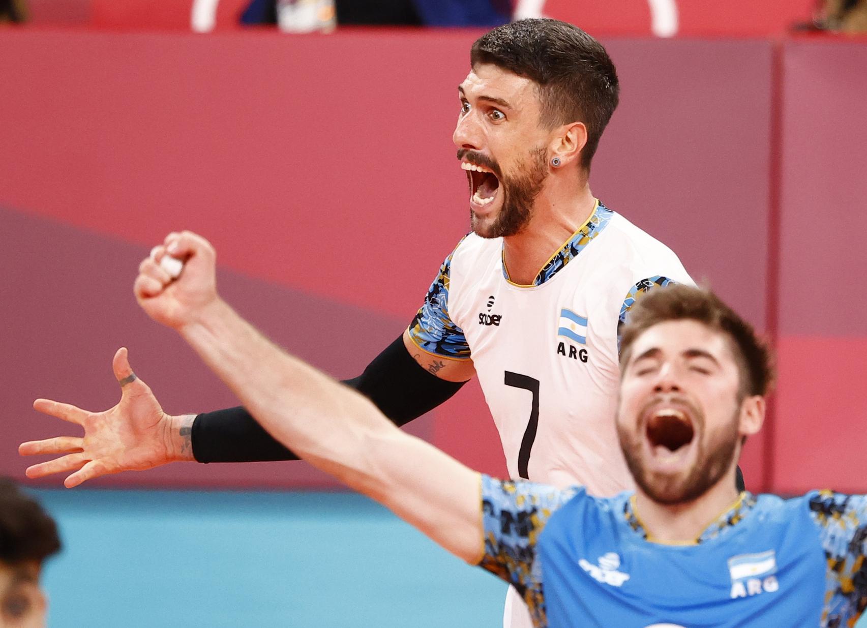 在东京奥运中,阿根廷排球队的表现相当亮眼