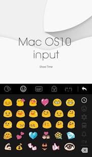 Mac OS10 input Keyboard Theme - náhled