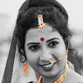 Bridal Moods of Indian Bride by Rajib Chatterjee - Digital Art People