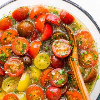 Marinated Cherry Tomatoes.