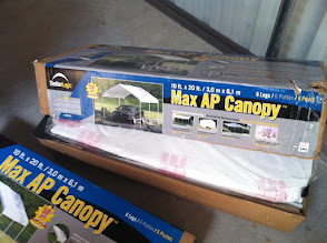 Photo: Canopy 10x20;  6 leg thinwall pipes; light duty