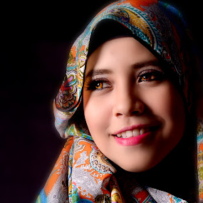 hijab by Alfred Asmat - People Portraits of Women