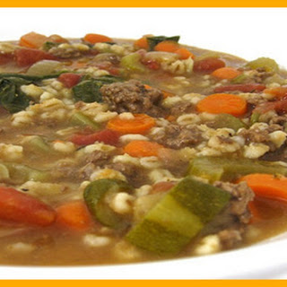 Skinny Beef, Vegetable and Barley Soup (Crock Pot or Stove Top) SmartPoints 3
