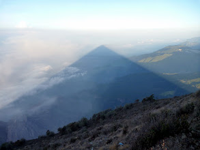Photo: The shadow of volcan Santa Maria, Guatemala from the summit