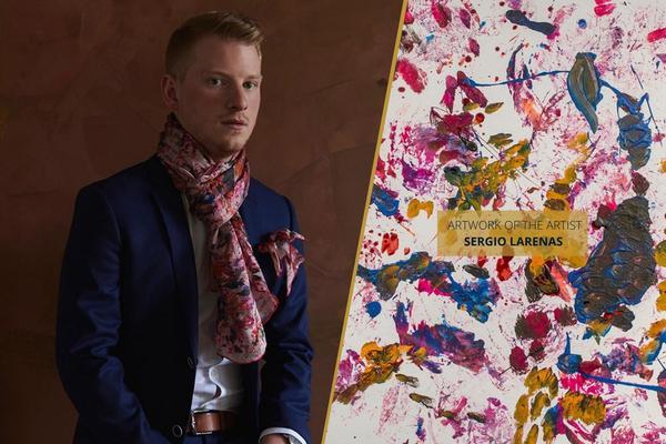 Foulards en soie rose pour hommes et femmes | Le créateur de mode Nathon Kong