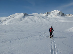 Photo: Skiing across the Wapta Icefield.  Mt. Collie is on the right.