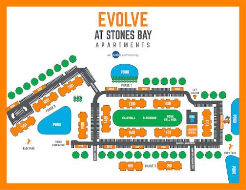 Evolve at Stones Bay community map