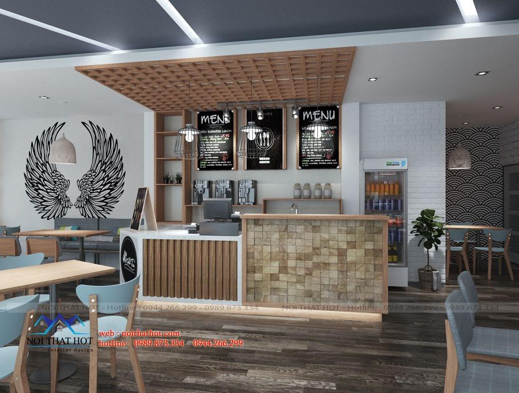 thiết kế cửa hàng trà sữa sáng tạo và đẹp mắt