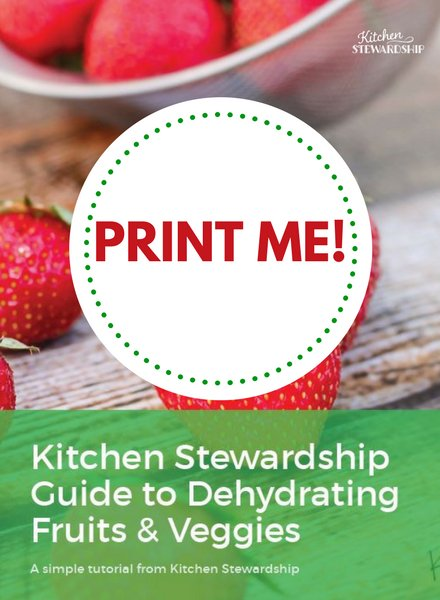Guide to dehydrating fruits and veggies