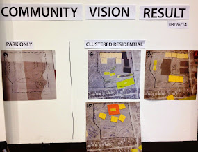 Photo: Designs created during the first day of the charrette.