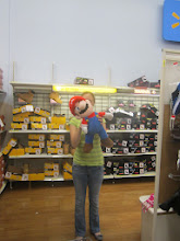 Photo: Off to shoes... and who does Robyn find waiting there? Mario!