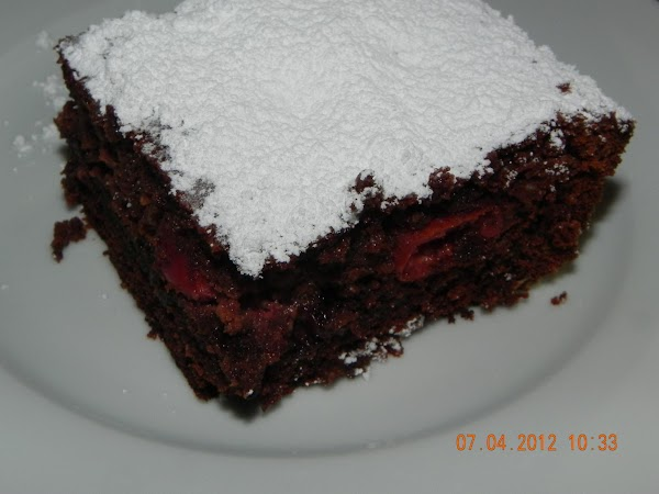 Remove and let cool. Before serving add your powdered sugar on top and then...