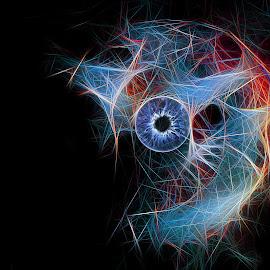 Iris by Brad Cheek - Digital Art Things ( colour, circular, blue, black, eye )