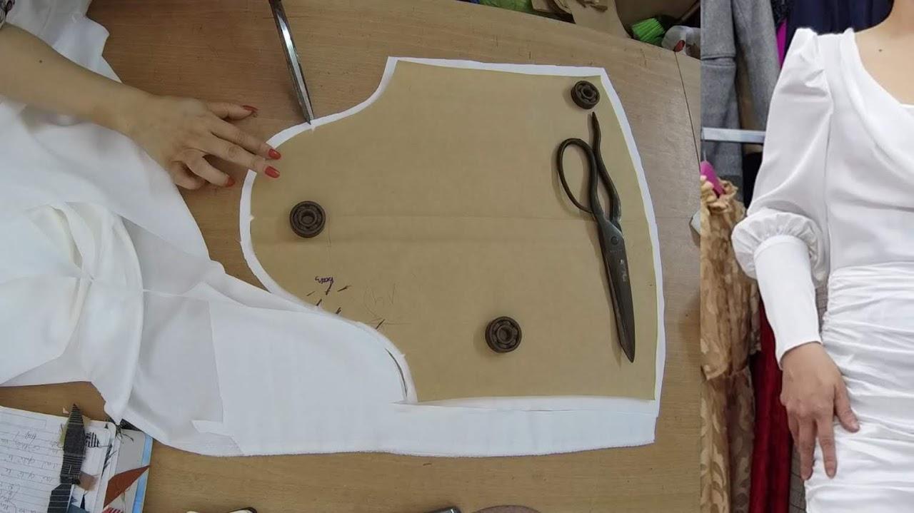 Cách thiết kế Tay Bồng xếp nhún thời trang thuỷ hải phòng