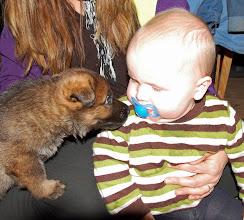 Photo: Sebastian og lillegutt 4 uker og 2 dager