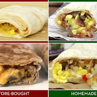 Homemade Frozen Breakfast Burrito Assembly Line