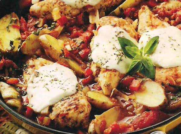 Oven Roasted Tuscan Style Chicken With Fingerling Potatoes