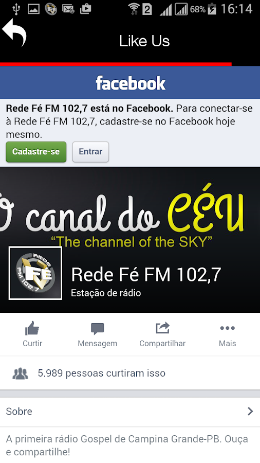 Rede Fé- screenshot