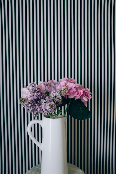 Photo: stripes & flowers experiment