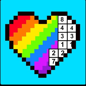 RAINBOW Color by Number - 2D & 3D Pixel Art